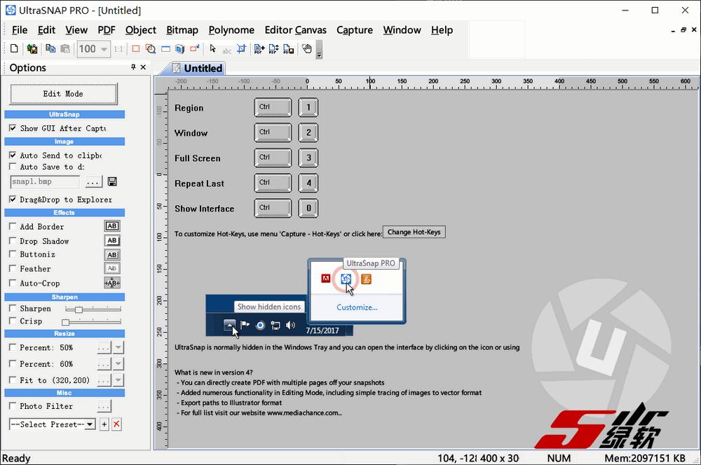 支持矢量编辑的截图软件 MediaChance UltraSnap Pro 4.8.3 安装版