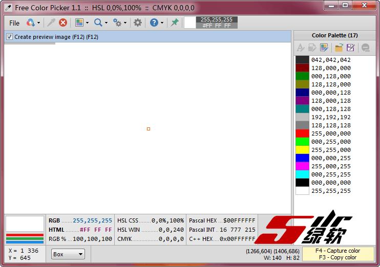 强大拾色器 Free Color Picker 1.1 英文绿色版