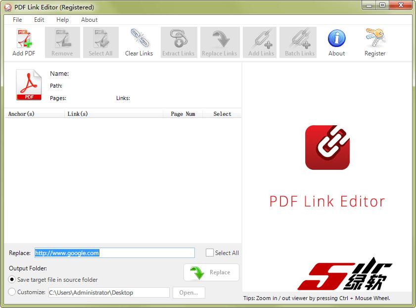 批量替换、清除、修改PDF网址链接 PDF Link Editor Pro 2.5.2 英文版