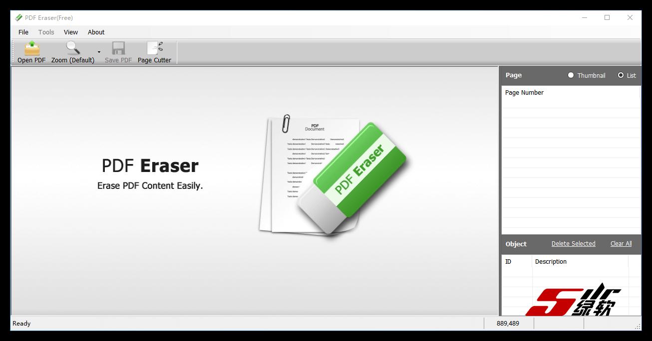 擦除PDF不想要的对象 PDF Eraser(PDF橡皮擦)1.9.5 英文版