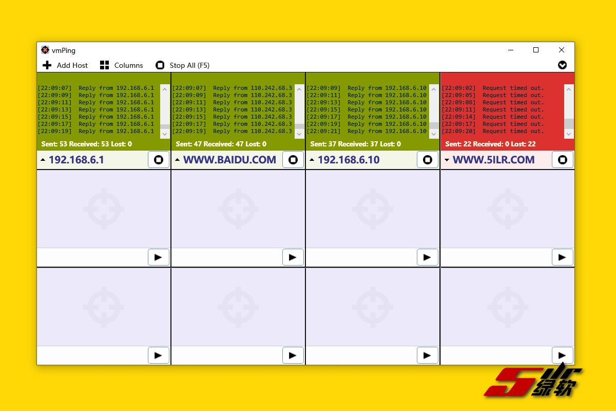 可视化ping网络测试 vmPing v1.3.18 中文版